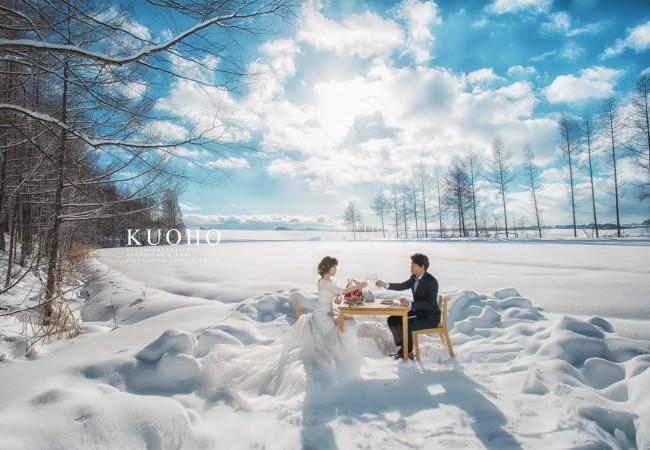 北海道雪地海外婚紗